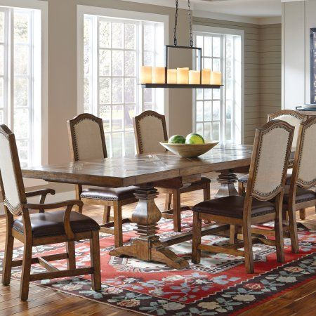 Sfl American Attitude Double Pedestal X Pattern Dining Table Best Oak Dining Room Design Decoration