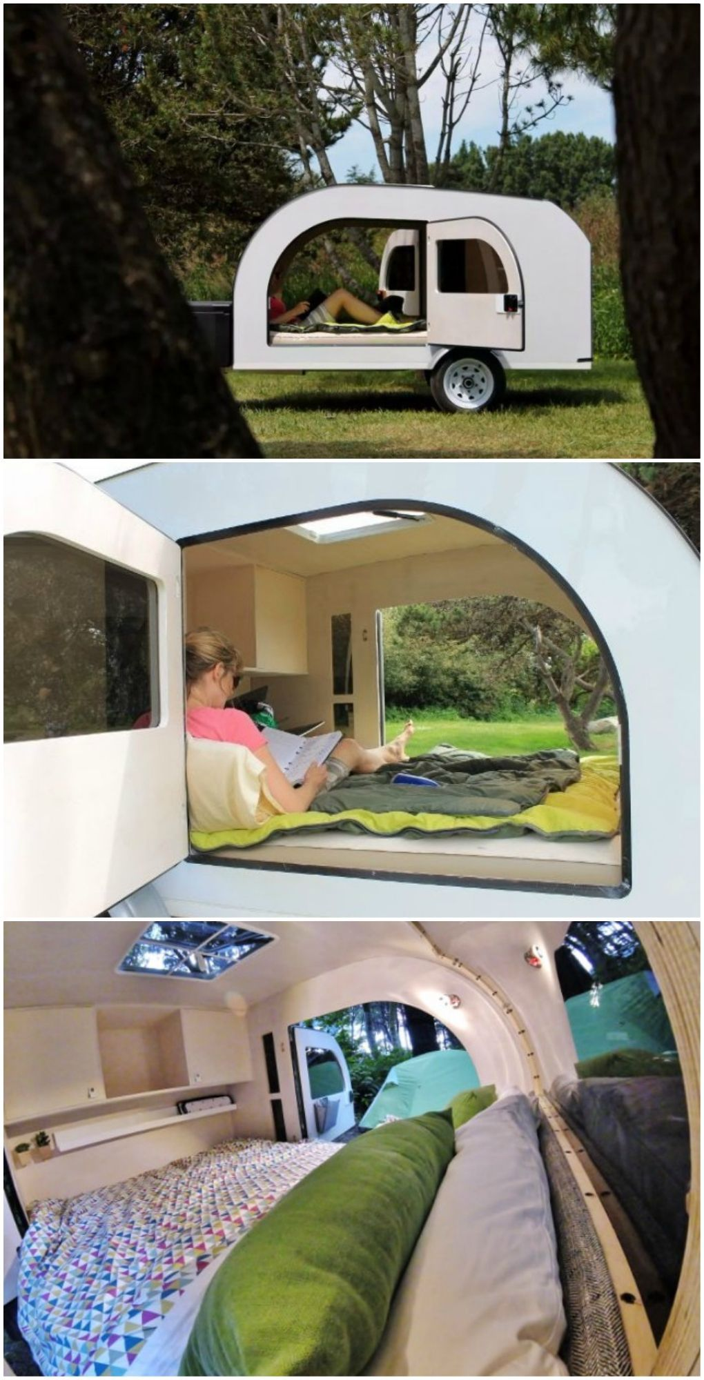 The teardrop trailer DROPLET brings the outdoors inside | Tear drop