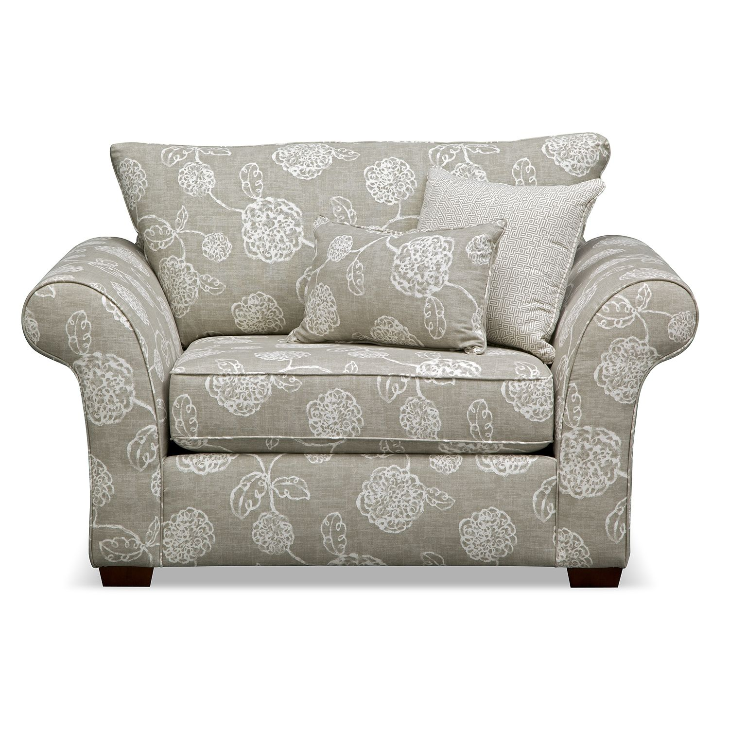 Awesome Living Room Furniture   Adele Chair And A Half