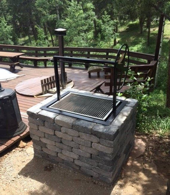 "Brick Grills And Outdoor Countertops Building Your: 36X24"" Santa Maria Countertop Drop In Frame Wood Charcoal"