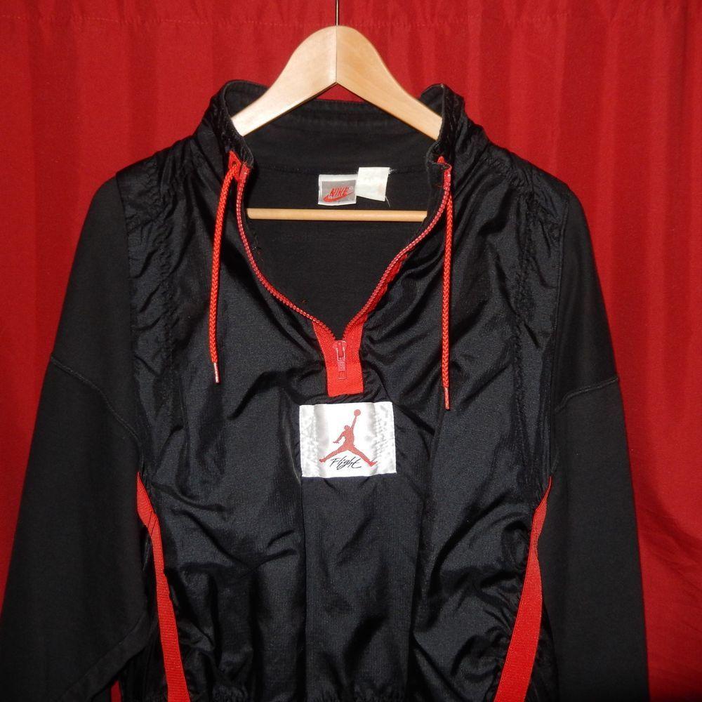 b8f1722db3d VTG OG 1989 Nike Air Jordan IV Flight Jacket Black Red Gray Tag Not Retro  Large #Nike #SweatshirtsFleeces