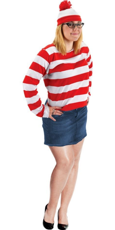 Adult Wenda Costume Plus Size - Whereu0027s Waldo?  sc 1 st  Pinterest & Adult Whereu0027s Waldo Plus Size Wenda Costume - Party City | Halloween ...