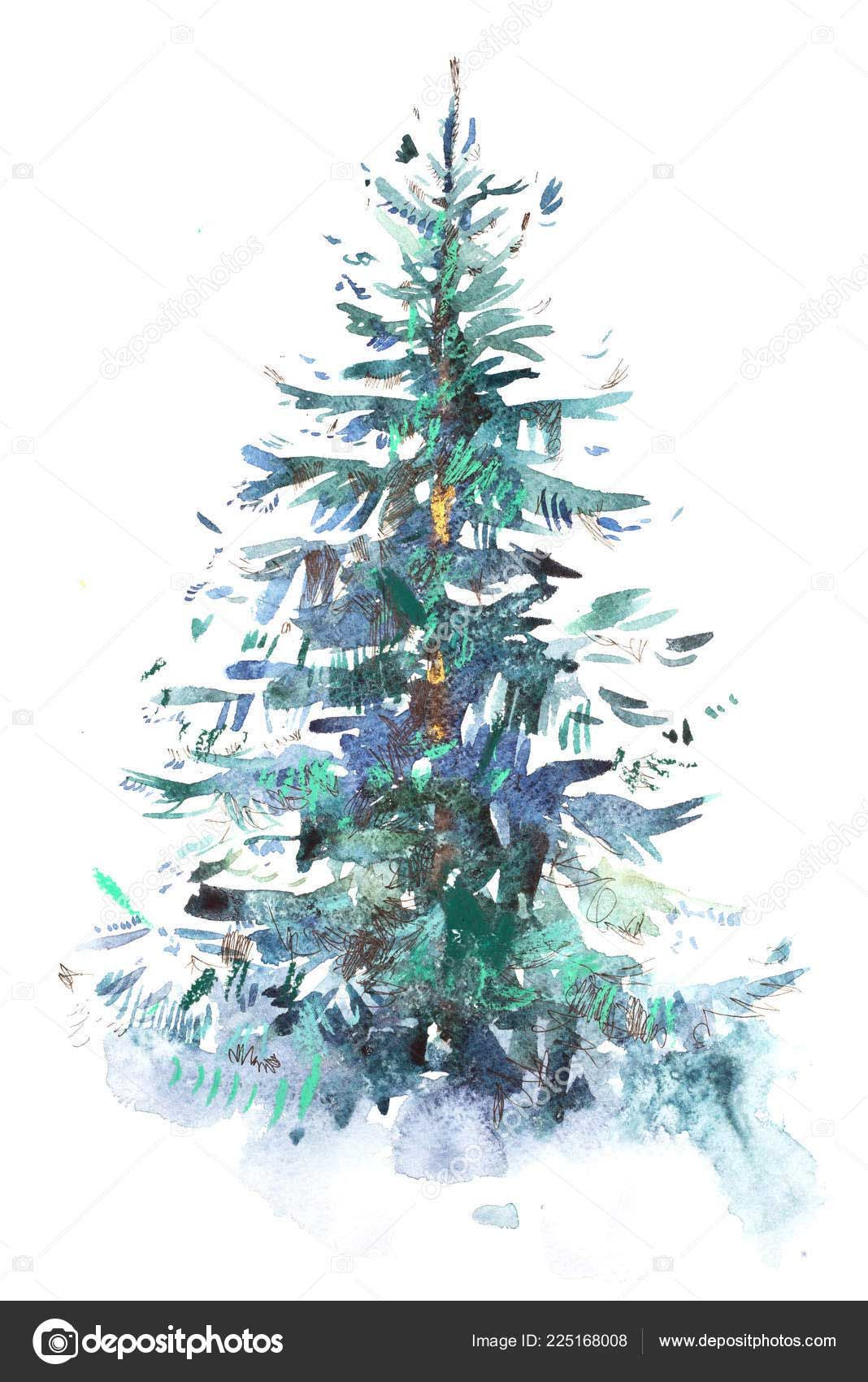 19 Amazing Decorated Christmas Tree Drawing Christmas Tree Drawing Tree Drawing Christmas Watercolor