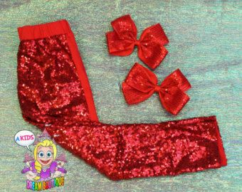 14d30cec6bec6a Girls red sequin leggings red pants back to school toddler girl birthday  clothes kids fashion Christmas outfit