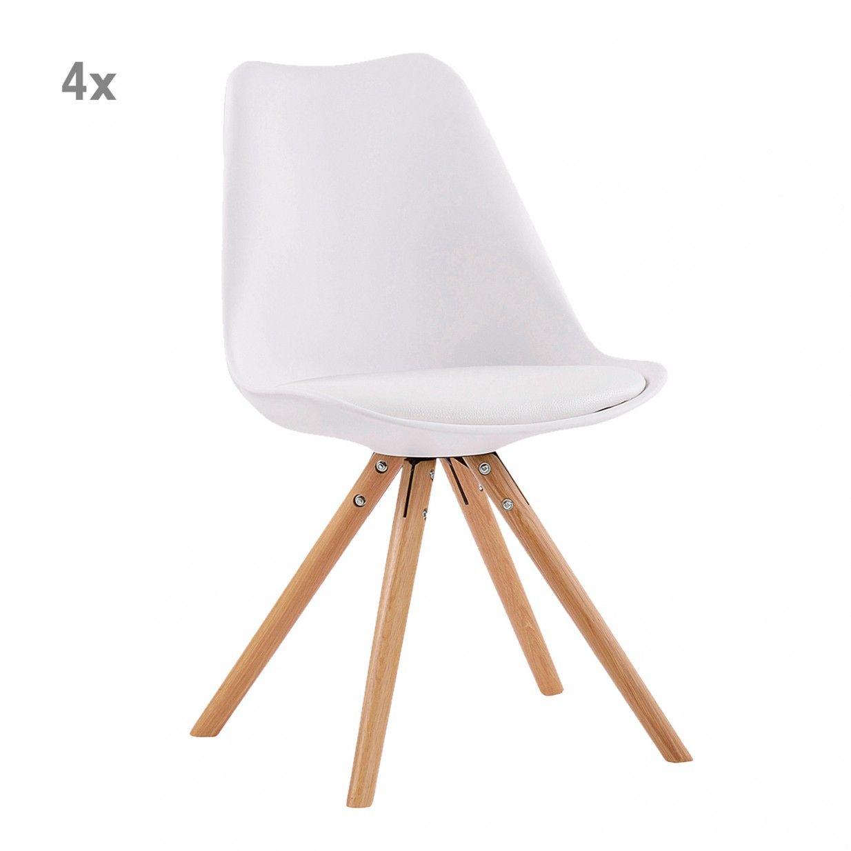 4er-Set Andreas Stühle - Weiß | Swedish Living | interieur design ...