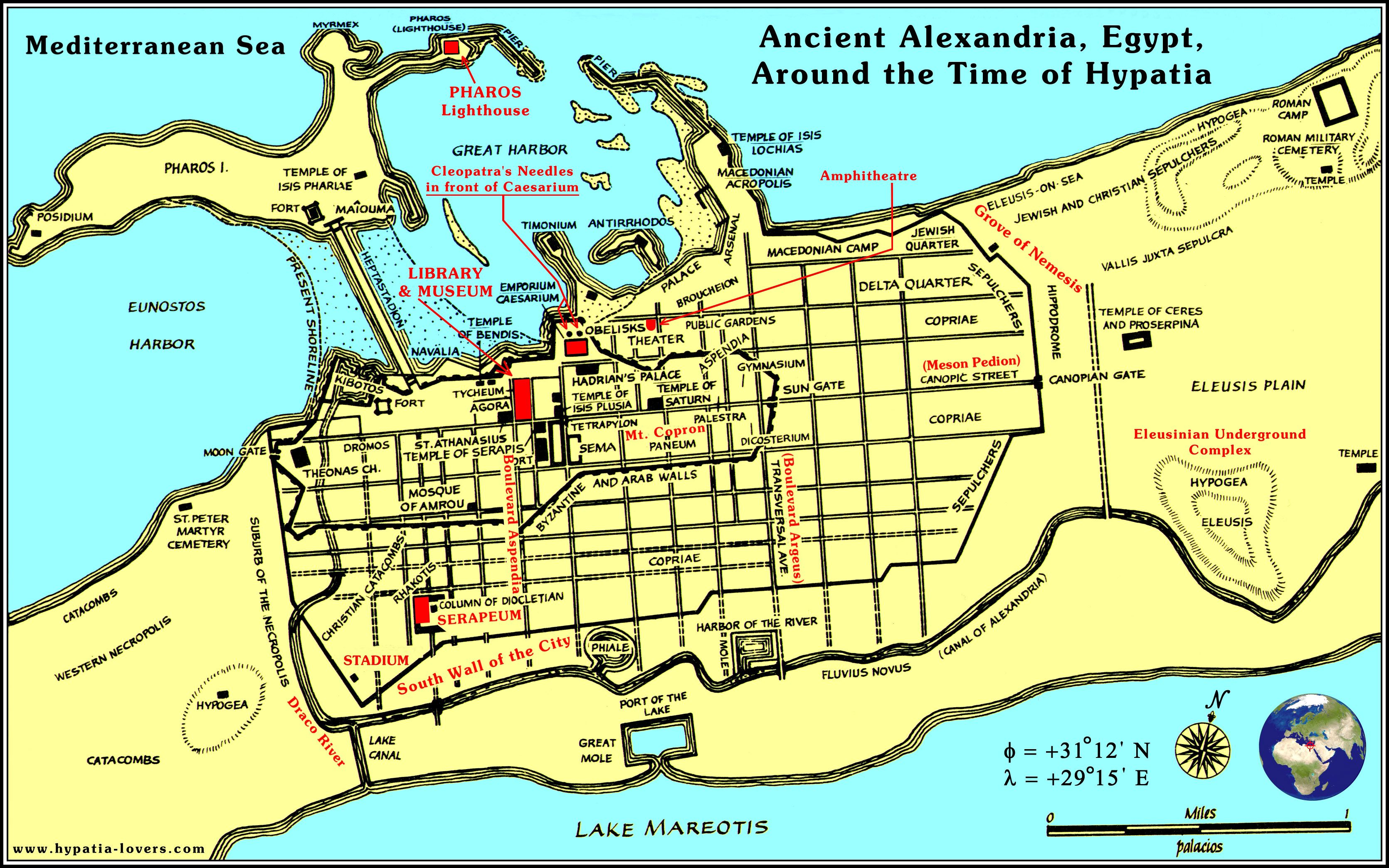 The Royal Library Of Alexandria Or Ancient Library Of Alexandria - Alexandria usa map