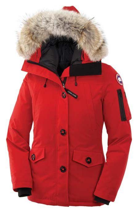 Women's red hooded coat – Modern fashion jacket photo blog