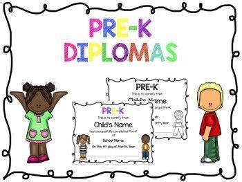 prek diplomas editable pinterest teacher pay teachers teacher