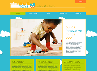learning toys website template wix websites church preschool pinterest. Black Bedroom Furniture Sets. Home Design Ideas