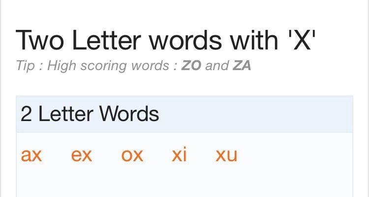 2 letter words with x | scrabble words | pinterest | scrabble