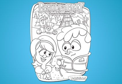 Beauty And The Beet Coloring Page Veggietales