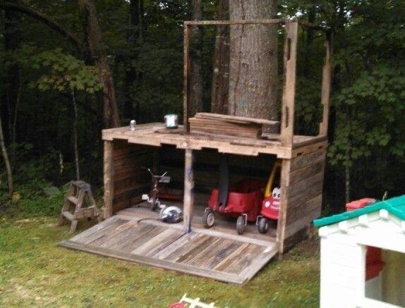 Pallet Tree House Pallet Tree Houses Tree House Diy Pallet Tree