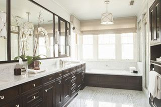 Hillgrove Traditional Bathroom Los Angeles By Tim Barber Ltd Architecture Interior Design Traditional Bathroom White Marble Countertops Home