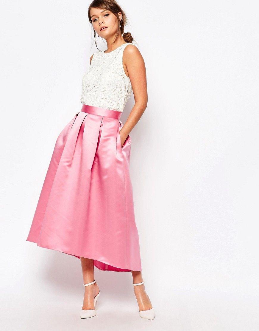 Imagen 1 de Falda de graduación amplia en satén de Closet   prom ...