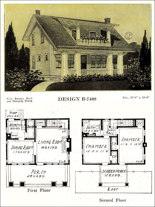 Artistic 1918 Eclectic House Plan Modern American Homes Vintage Plans By C L Bowes Co Vintage House Plans House Plans Plans Modern