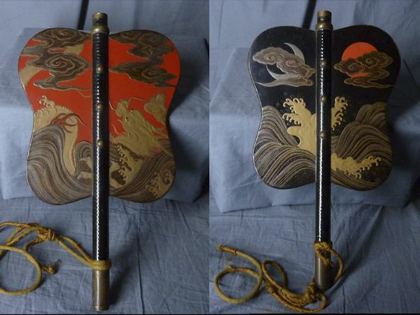 Pin on Japanese Gunpai- General's war fan and Samurai Tessen