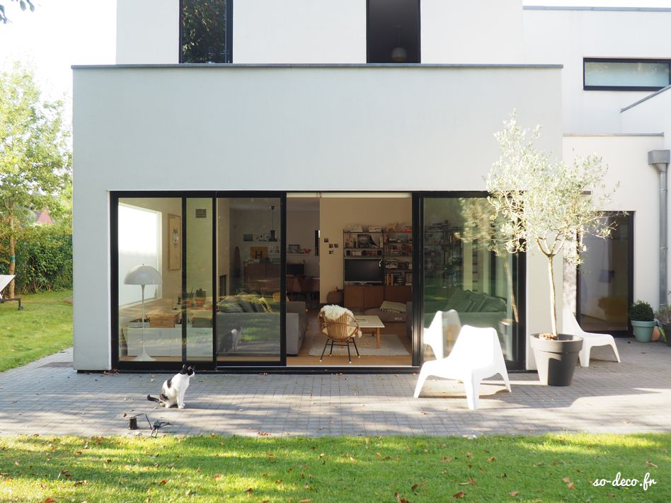 grande-baie-vitree Maisons   Houses Pinterest Extensions