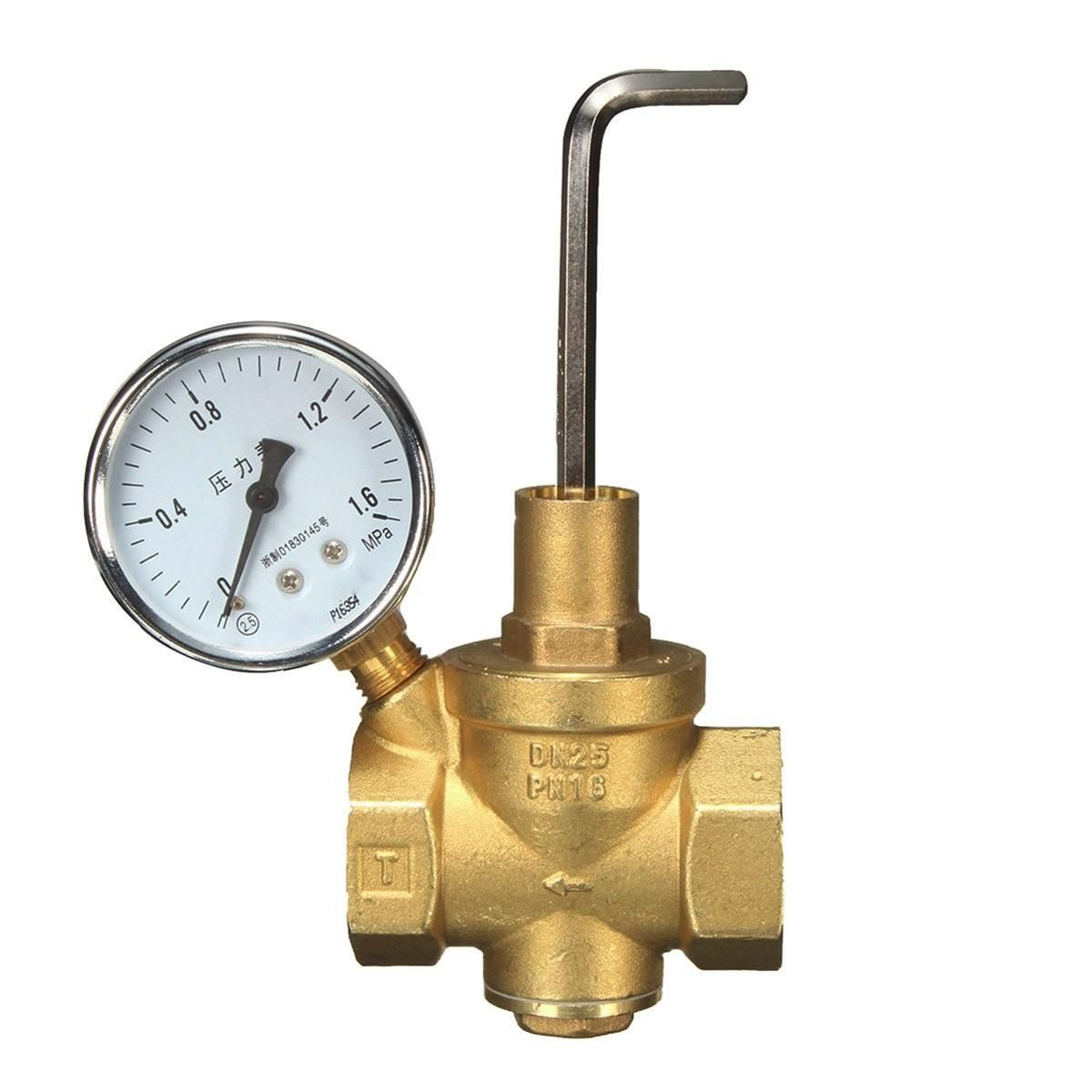 Us 35 71 Dn25 Brass Water Pressure Reducing Valve Gauge Pressure Gauge Water Flow Electrical Equipment Supplies From Tools Industrial Scientific On Banggoo In 2020 Water Flow Pressure Gauge Valve