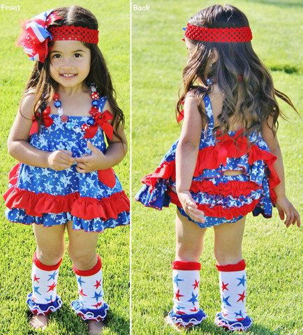 d9a9163d6 Baby girls star spangled swing top set with bloomers 4th of july summer  tank and diaper cover for baby girls in red white and blue stars ...