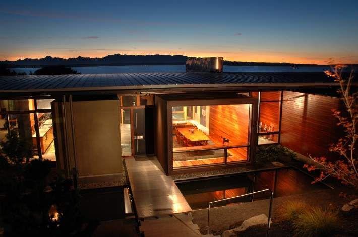 Meadow Creek House by Eggleston Farkas Architects , via Behance #architecture #li