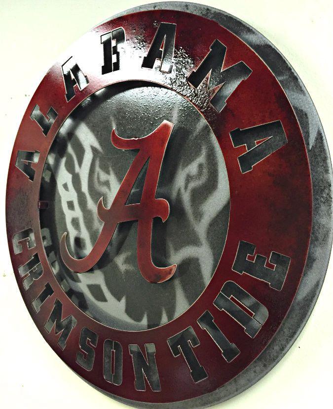 University Of Alabama Crest Vintage Red With Elephant Alabama Crimson Tide Football Wallpaper Alabama Crimson Tide Football Alabama Crimson Tide