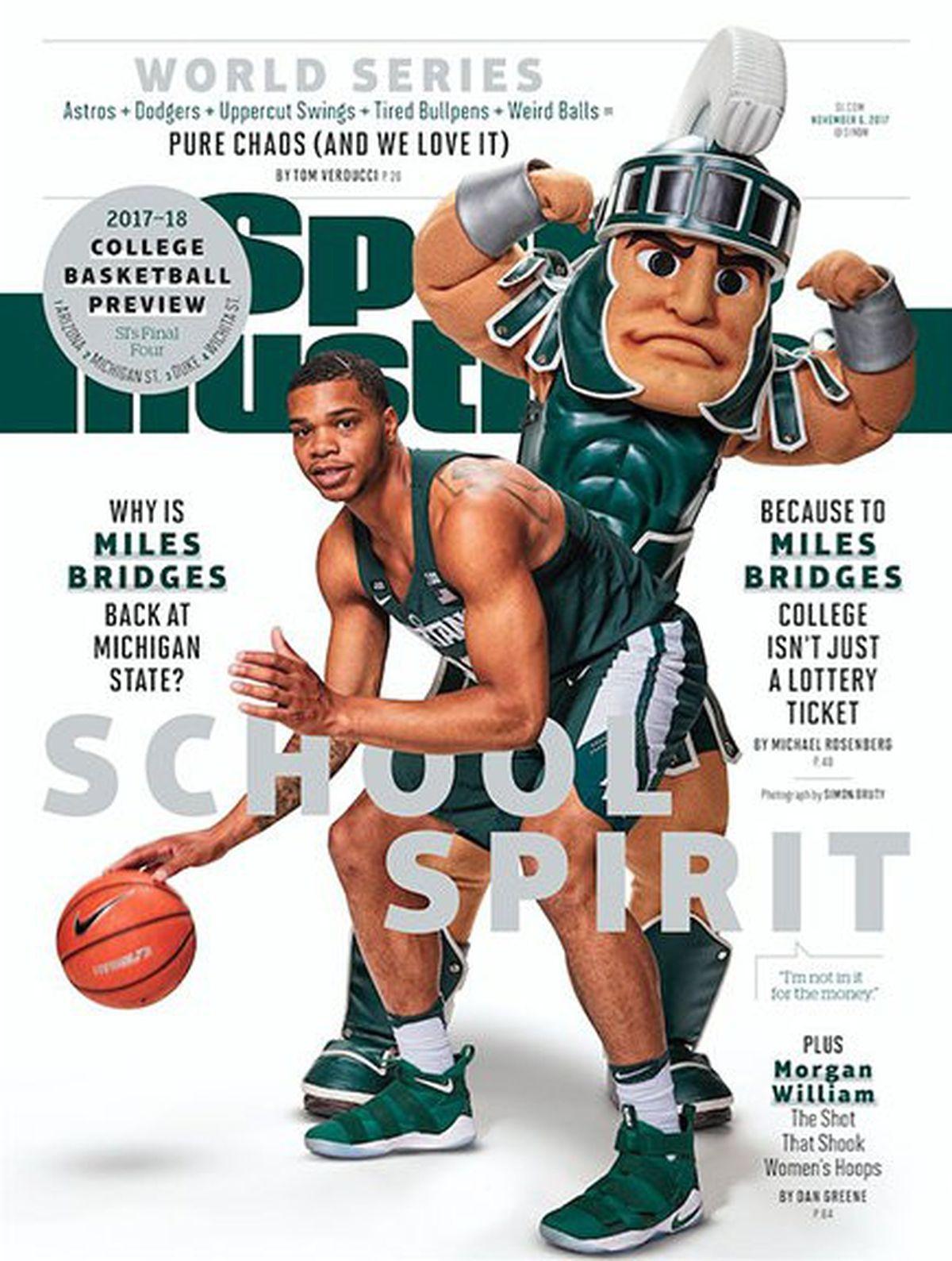 Beware The Si Cover Jinx Michigan S Pro College Teams Have A In 2020 Michigan State Basketball Michigan State Michigan State Spartans Basketball