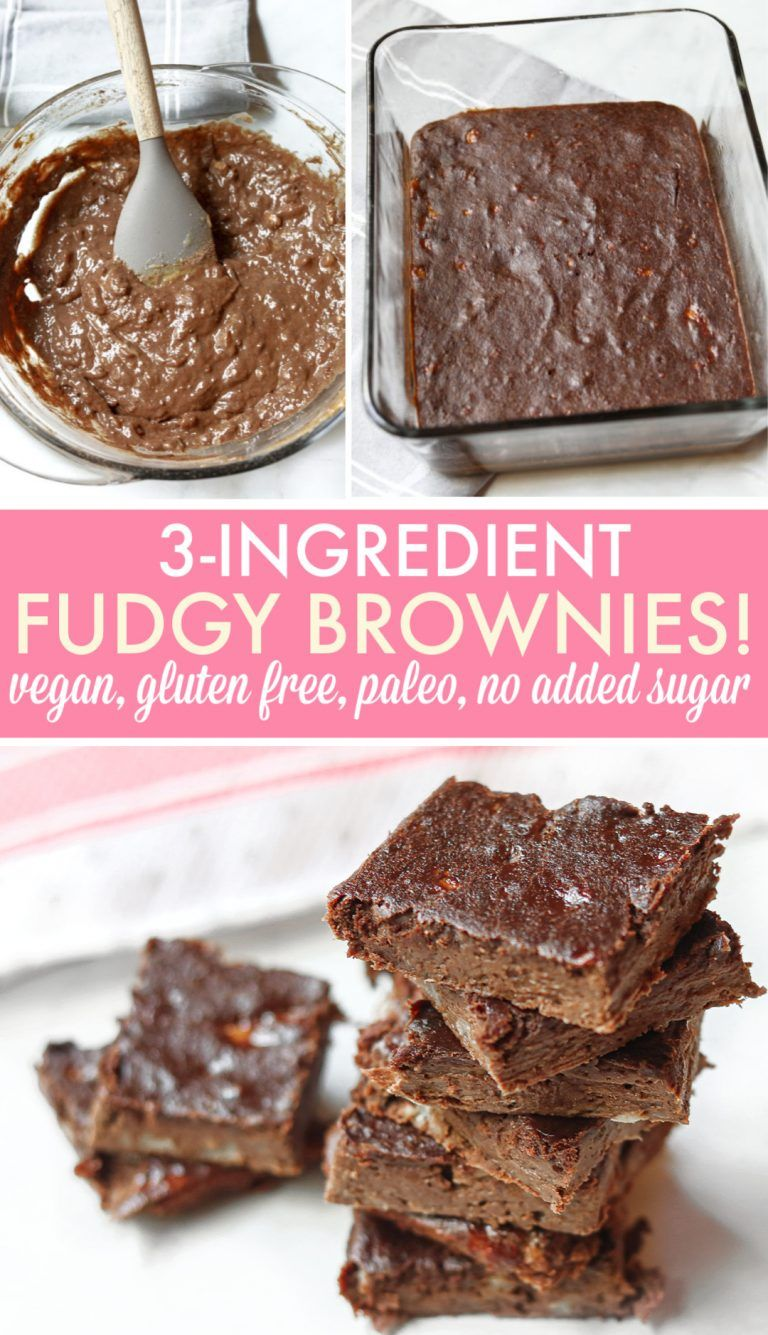 Photo of 3-Ingredient Fudgy Brownies (gluten-free, vegan, paleo) – Simply Taralynn