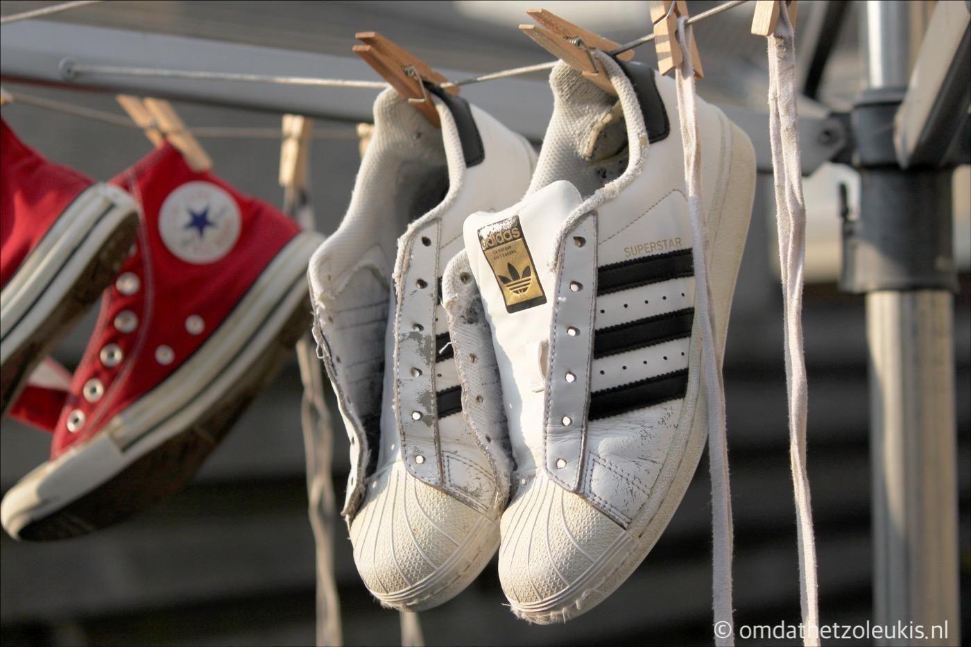 adidas schoenen in de wasmachine