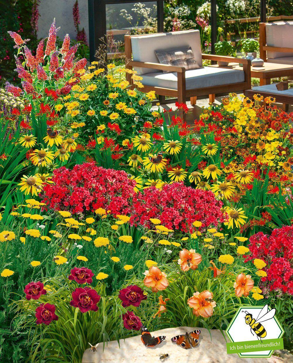 Gartenbeet Insektenweide 35 Pflanzen In 2020 Pflanzen Gartenbeet Baumstamm Garten