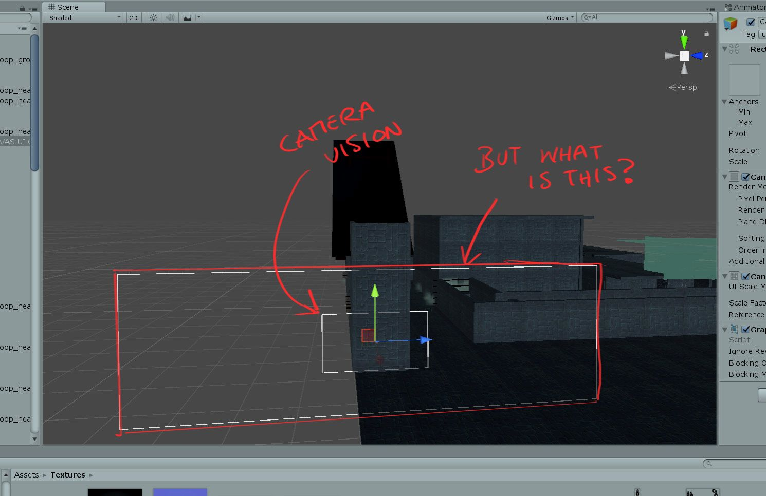 What is the larger outside border of a canvas gameobject? #unity #3d