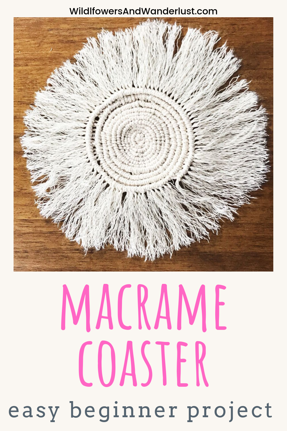How To Diy A Round Macrame Coaster With Images Macrame
