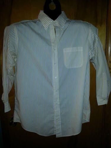 Brooks Brothers White Gold Stripe Cotton Button Down Mens Dress Shirt  16.5 32 33  27 Free Shipping! b8ebe5b23077