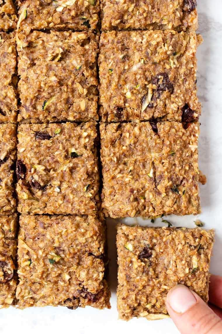 Chocolate Chip Zucchini Breakfast Bars Vegan Gf Simply Quinoa Recipe Zucchini Breakfast Breakfast Bars High Protein Breakfast Recipes