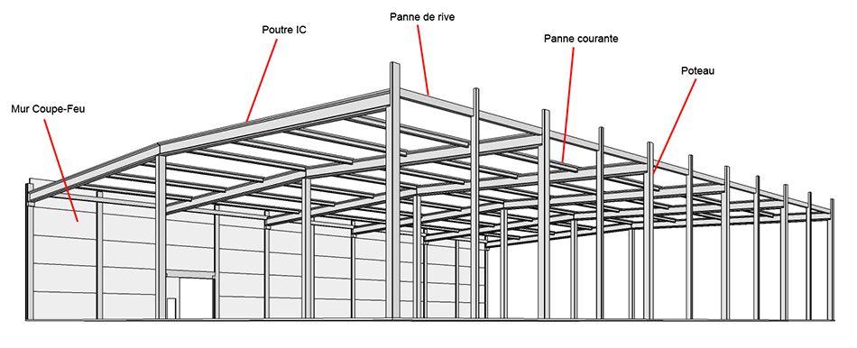 charpente beton schema