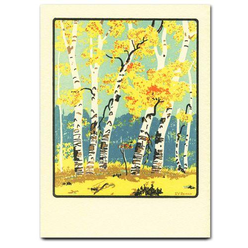 Saturn Press Card Autumn Dunes Letterpress Cards Letterpress Greeting Card Companies