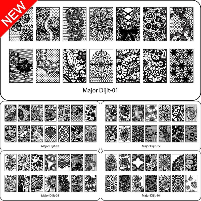 Beauty Lace Design Nail Stamping Plates Image Nail Stencil for Nail ...
