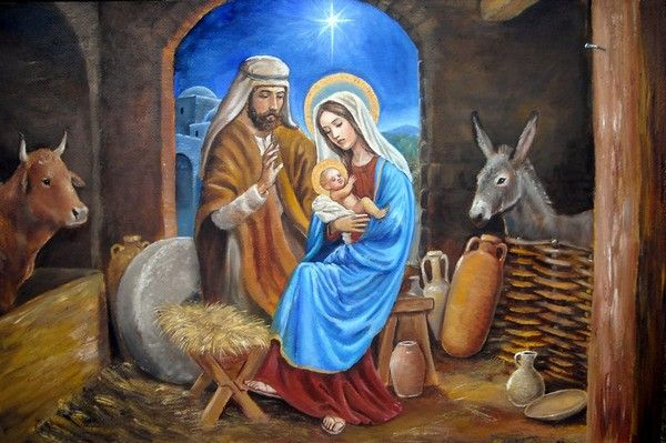75 Lovely And Beautiful Christmas Wallpapers For Desktop Nativity Of Jesus Christmas Paintings Christmas Nativity Scene