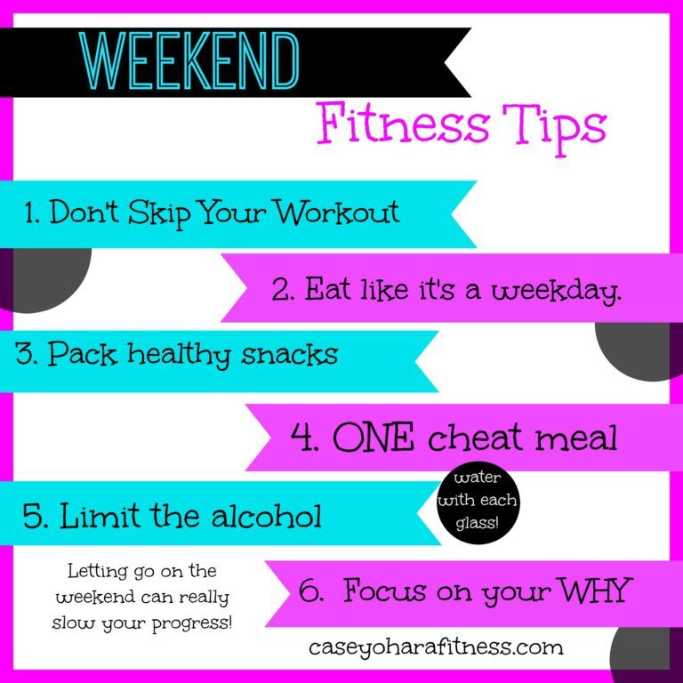 Weekend Fitness Tips - how to stay on track on the weekends!