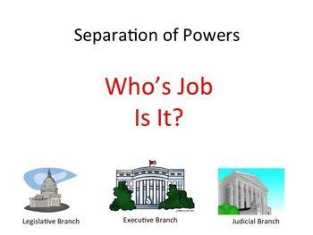 Worksheets Separation Of Powers Worksheet free worksheet based on the separation of powers principle review purpose