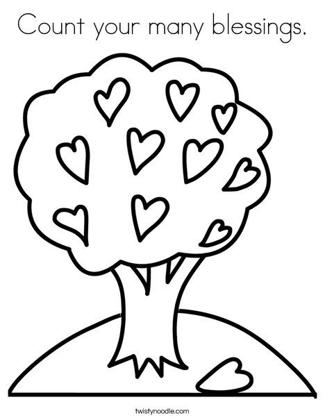Count Your Many Blessings Coloring Page Jesus Coloring Pages Earth Day Coloring Pages Tree Coloring Page