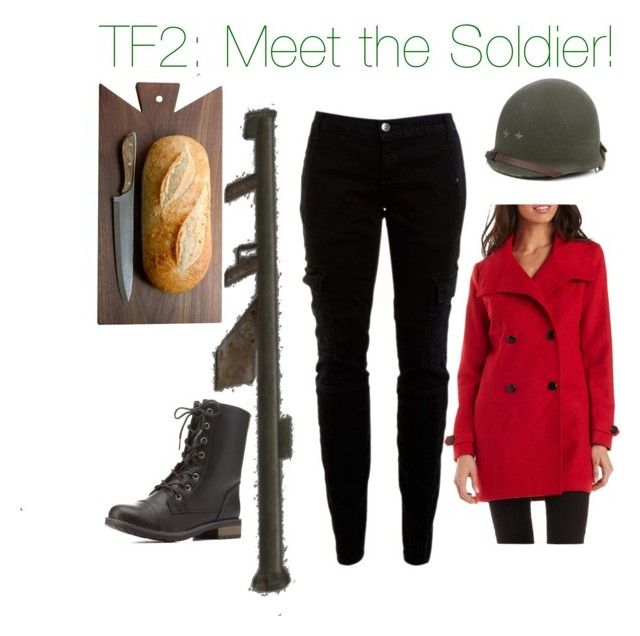"""Team Fortress 2: Solly / Soldier"" by nerdybirdy1224 ❤ liked on Polyvore featuring Charlotte Russe and Joie"