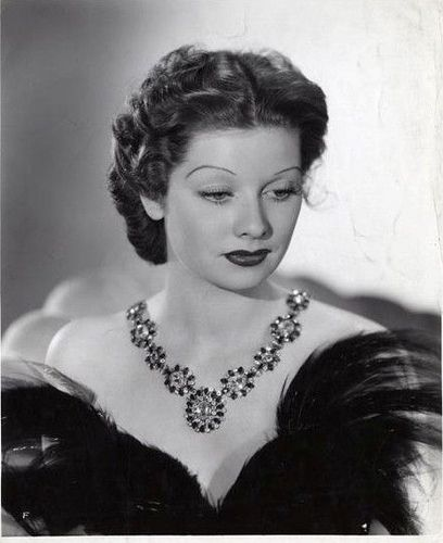 Lucille Ball in the 1930s, hardly recognized her, looking glamorous in Joseff Hollywood Jewelry