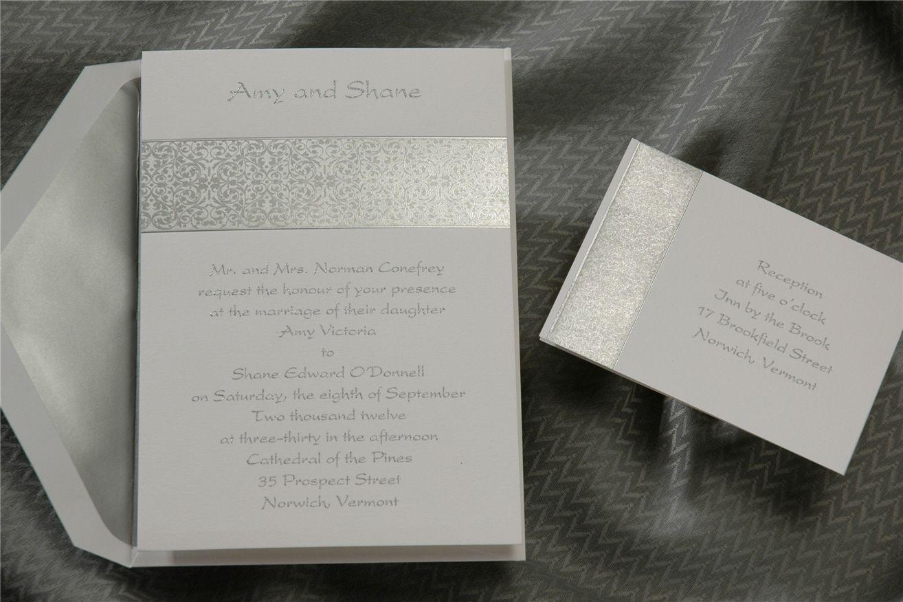 Birchcraft Invite Silver Wedding Invitations Wedding Invitations Wedding Announcements Invitations