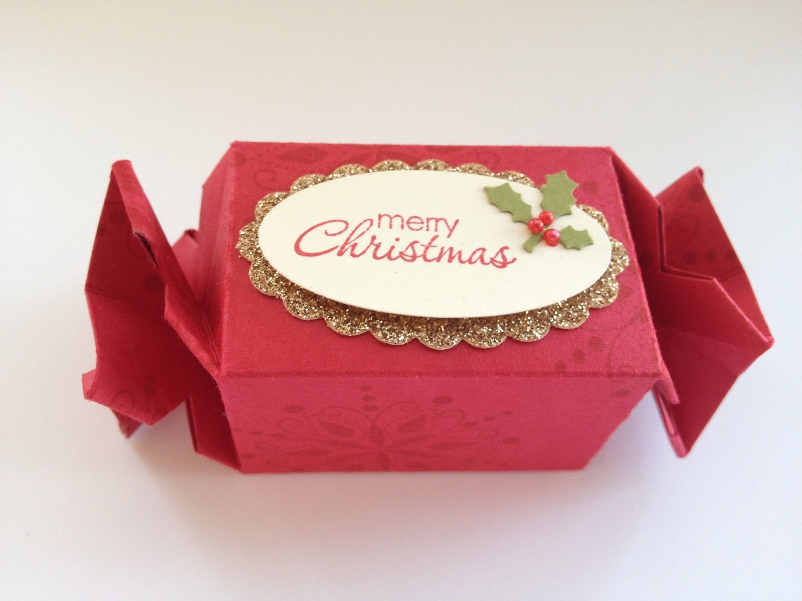 Christmas table favour using the Candy Wrapper die from Stampin' Up!
