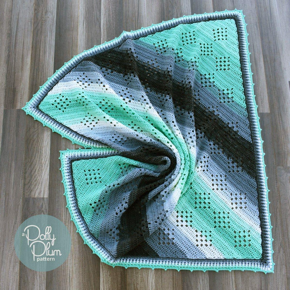 Granny in the Sky, #crochet, free pattern, baby blanket, afghan ...