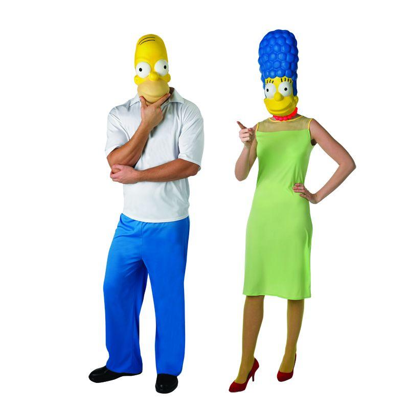 Pareja disfraces de homer y marge simpson parejas - Difraces para carnaval ...