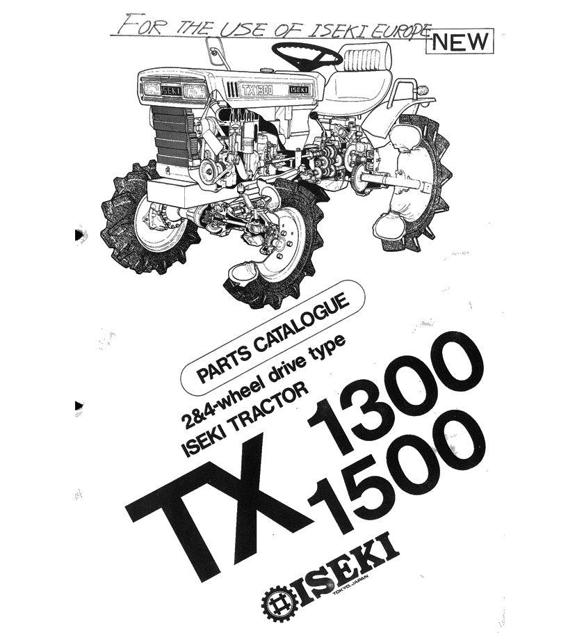 Iseki TX1300 TX1500 Parts Manual download in 2020