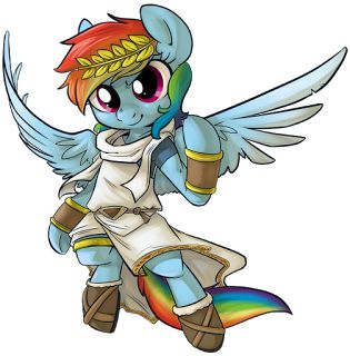 Rainbow Dash in Kid Icarus!