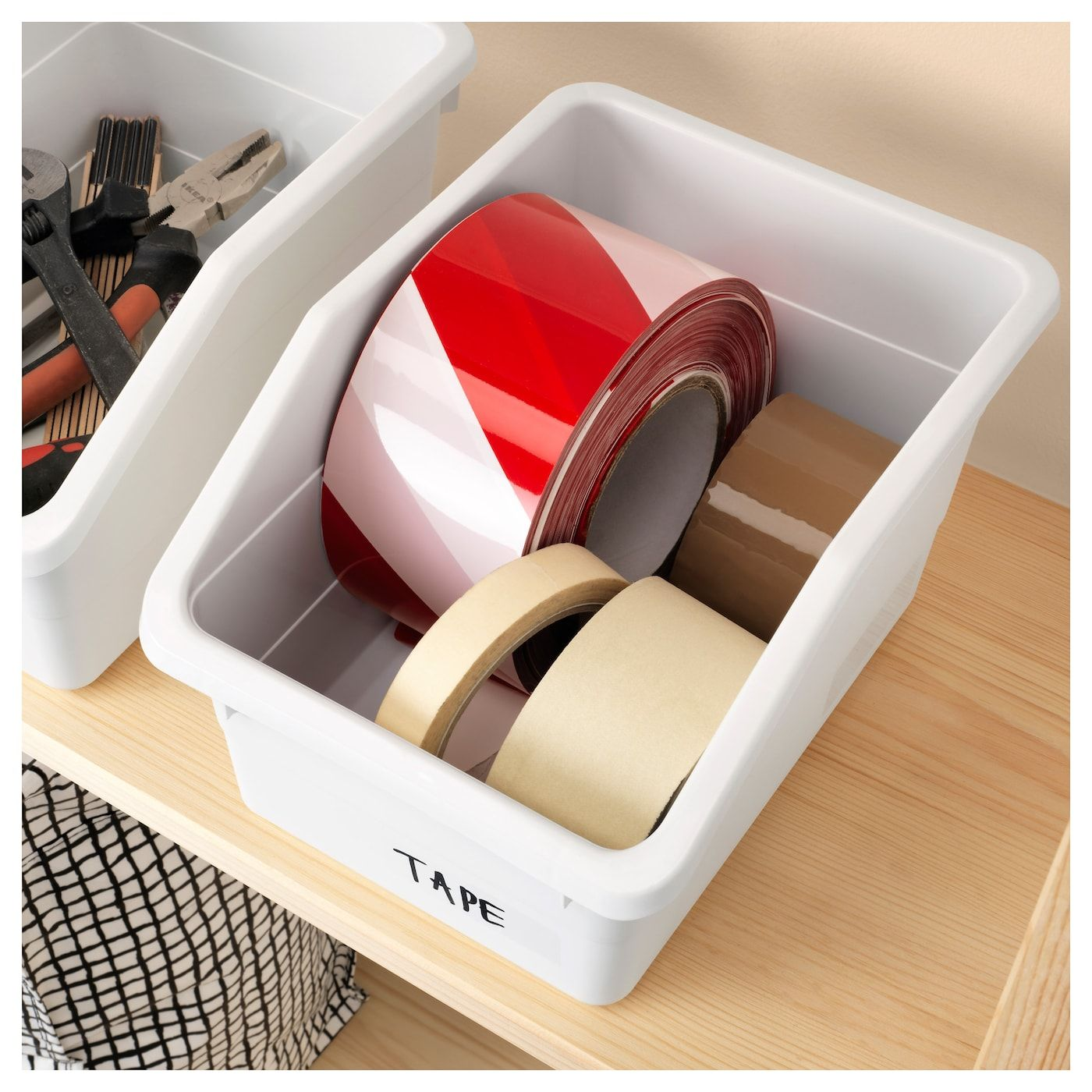 "SOCKERBIT Box white 7 ½x10 ¼x6 "" (19x26x15 cm) Ikea"