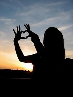 Pin On Hearts Hands Hand shaped love wallpaper in sunset